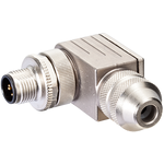 M12 MALE 90° B CODED SHIELDED WIREABLE SCREW TERM.
