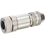 M12 FEMALE 0° B CODED SHIELDED WIREABLE SCREW TERM.