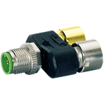 T-COUPLER SLIMLINE M12-MALE 5P./ 2X M12-FEMALE 5P.